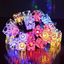 10/20/40 LED Ice Cube Shaped String Lights Christmas Holiday Home Party Decor