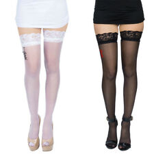 Sexy Women Lady Sheer Lace Top Stay Up Thigh High Stockings Nightclub Long Socks