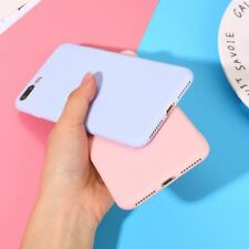 Color TPU Silicone Frosted Matte Case For iPhone 7 8 Plus 6 6s X Plus 5 5S Soft