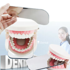 New Dental Rhodium Occlusal plated Photographic Glass 2-sided Mirror Mouth tool