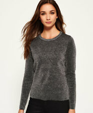 Superdry Mujer Jersey de punto Metallic Sparkle Silver Sparkle