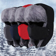 cb149aa60e4 1Pc Mens Winter Ushanka Trapper Hat Aviator Earflap Ski Hat Cap Hunt Trooper  RGZ