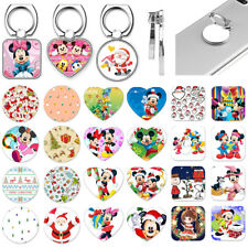 Christmas Cartoon Mickey Metal Finger Ring Phone Grip Stand Holder For Apple LG