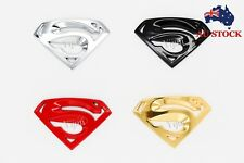 3D Superman Chrome Metal Auto Car Motorcycle Logo Sticker Badge Emblem AU STOCK