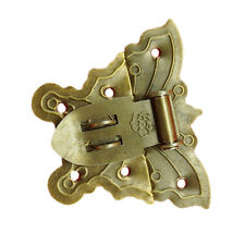 Chic Butterfly Latch Catch Jewelry Wooden Box Lock Hasp Pad Chest Screws Kit New