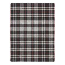 Cottage 11E CHECKED TARTAN BLACK GREY WashableAnti slip Kitchen Rug Runner D.Mat