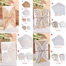 x10 4 in 1 set Wedding Laser Cut Invitations Cards With Envelopes Invite Card