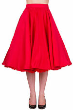 Banned Swing Circular Retro 50s Rockabilly Pin- Up Falda Media Pierna Talla