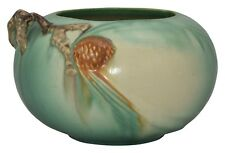 Roseville Pottery Pine Cone Green Bowl 278-4