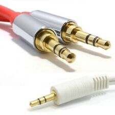 3.5mm Audio Sound Speaker Headphone Mobile Gold Lead Pro Cable 20CM to 3M Long