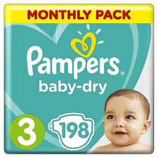 Pampers Baby-Dry Nappies size 3 4 4+ 5+ 6 7,Air Channels Breathable monthly pack
