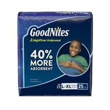 GoodNites Bedtime Bedwetting Underwear for Boys, Size L/XL, 25 Count