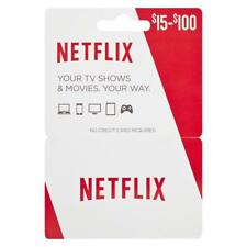 Netflix Gift Cards Digital Email Fast Delivery $30 $50 $60 $100 United States