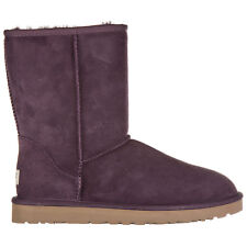 UGG WOMEN'S SUEDE ANKLE BOOTS BOOTIES NEW W CLASSIC SHORT PURPLE VIOLET 9C0