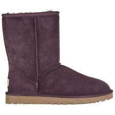 UGG WOMEN'S SUEDE ANKLE BOOTS BOOTIES NEW W CLASSIC SHORT PURPLE VIOLET A5D
