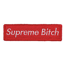 """Supreme Bitch Mock Logo Embroidered Sew-On & Iron-On Patch 4 1/8"""" x 1 1/4"""", New"""