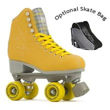Rio Roller Signature Quad Roller Skates - Yellow - Optional Skate Bag