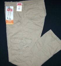 Men's Wrangler Comfort Flex Cargo Pants Khaki Regular Fit 8 Pockets ALL SIZES