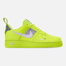 AUTHENTIC NIKE AIR FORCE 1 '07 LV8 Utility Volt White Black Wolf Grey Men size