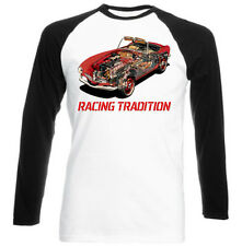 Italian Car Romeo 155 Dtm 1995 Activewear Black Sleeved Baseball Cotton Tshirt Clothes, Shoes & Accessories