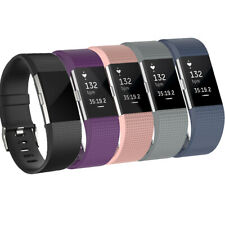 For Fitbit Charge 2 Watch Strap Wrist Band Soft Silicone Replacement 5 Colours
