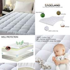 """Easeland Quilted Fitted Mattress Pad (Queen)-Mattress Cover Stretches Up 8-21"""" D"""