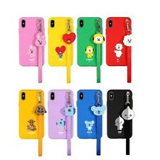 Official BT21 Strap Case Phone Cover Shockproof for iPhone Galaxy KPOP BTS