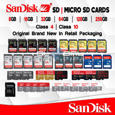 Sandisk SD Card 8/16/32/64/128 GB Memory lot Extreme Pro Ultra Original Package
