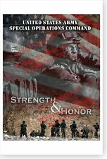 U.S Army Special Operations Command Strength And Honor Mountain Poster