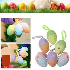 6Pcs Foam Easter Eggs Colorful Eggs for DIY Crafts Decorations C1MY
