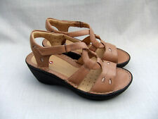 547ed2816 NEW CLARKS UNSTRUCTURED UN STERN WOMENS BEIGE LEATHER SANDALS SIZE 4.5    37.5