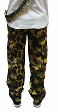 KIDS ARMY TROUSERS GIRLS BOYS CAMOUFLAGE TROUSERS COMBAT MILITARY CARGO CAMO