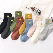 Women Cute Ankle High Soft Casual Breathable Sock Lady Lovely Heart Casual Socks