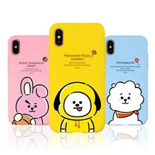 Official BT21 Hang Out Soft Case Phone Cover for iPhone Galaxy KPOP BTS