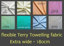 Cotton Towelling Fabric Flexible 180cm TOWEL ROBE Toys Baby Fabric Bibs Fabric