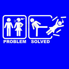 Problem Solved Funny Comic Humorous Men's T-Shirts And Vests S-XXL