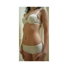 "Passionata ""Passio"" Ivory White Stripe and Ivory Lace Hipster Briefs 4384/LW"