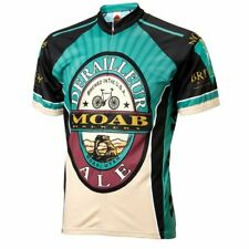 Moab Brewery Derailleur Ale beer Men's Full Zip Short Sleeve Cycling Jersey