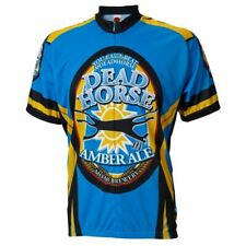 "Moab Brewery Dead Horse Ale beer Men's 15"" Zip Short Sleeve Cycling Jersey"
