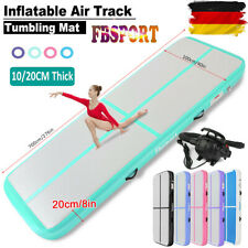3/4/5/6M Aufblasbar Air Track Tumbling Home Gymnastikmatte Floor Mat +Air Pumpe