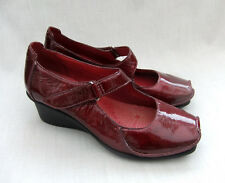 cd69d9a1 Clarks Finnis Blaze Red Patent Leather Wedge Shoes 7 ...