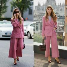 Pink Women Ladies Double Breasted Business Office Suits Style Work Wear Tuxedos