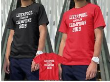 Liverpool European Champions 2019 Final Madrid 2019 Top T Shirt Mens Boys Kids