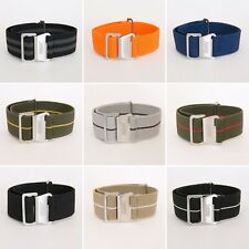 Elastic Premium Stretch French Style Nato Watch Strap 20mm 22mm