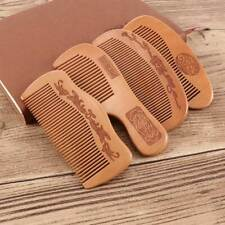 Wooden Hair Comb Anti Static Massage Hair Care Natural Peach Wood Handmade