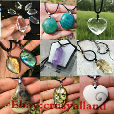 top! Natural High Quality Crystal Pendant Quartz Crystal Point Necklace Healing