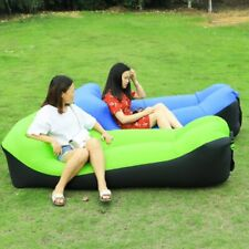 Camping Lazy Bed Sleeping Bag Inflatable Air Sofa Portable Beach Lounger