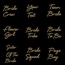 Team Bride Hen Do Party Iron On Transfer T Shirt Sparkle Crew Your Text Top 7731