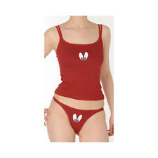 """Miss Achile Red Cotton """"Eyes""""  String Sided Thong"""