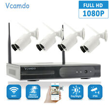 Vcamdo 4CH CCTV Security IP Camera System IR 1080P NVR Outdoor Network Metal HDD